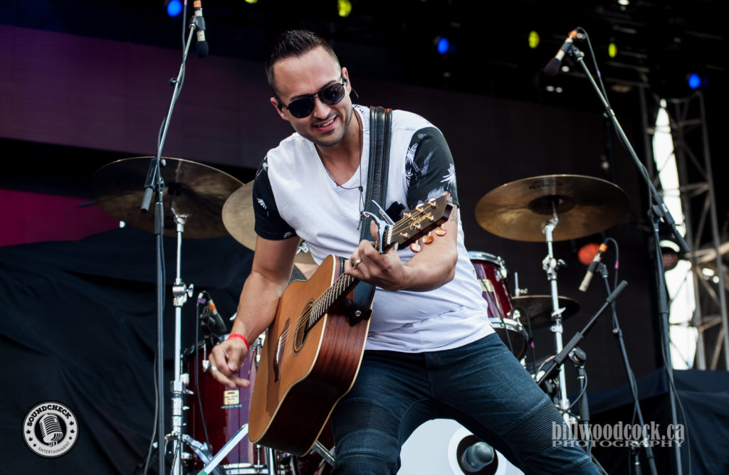 Jason Benoit performs at Trackside Music Festival in London, ONT - Photo: Bill Woodcock